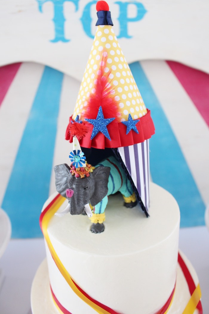 Cake Topper From A Big Top Circus Themed Birthday Party On Karas Ideas
