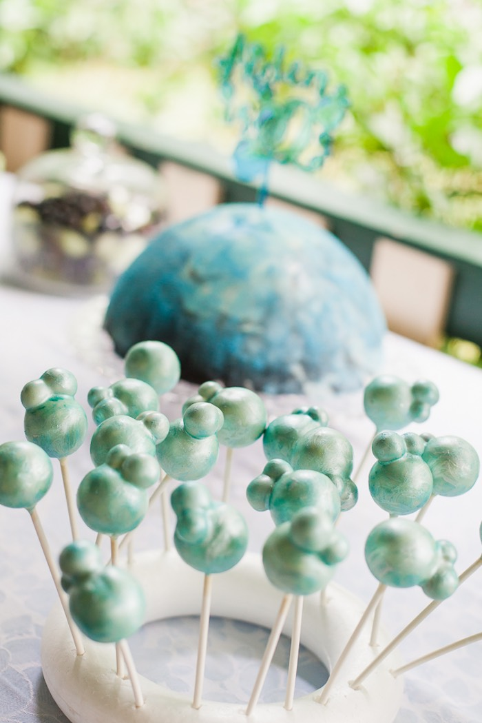 Bubble cake pops from a Bubble Birthday Party on Kara's Party Ideas | KarasPartyIdeas.com (25)