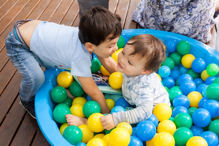 Ball pit from a Bubble Birthday Party on Kara's Party Ideas | KarasPartyIdeas.com (34)