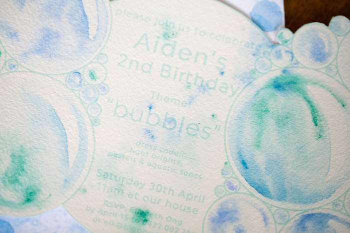 Party invitation from a Bubble Birthday Party on Kara's Party Ideas | KarasPartyIdeas.com (30)