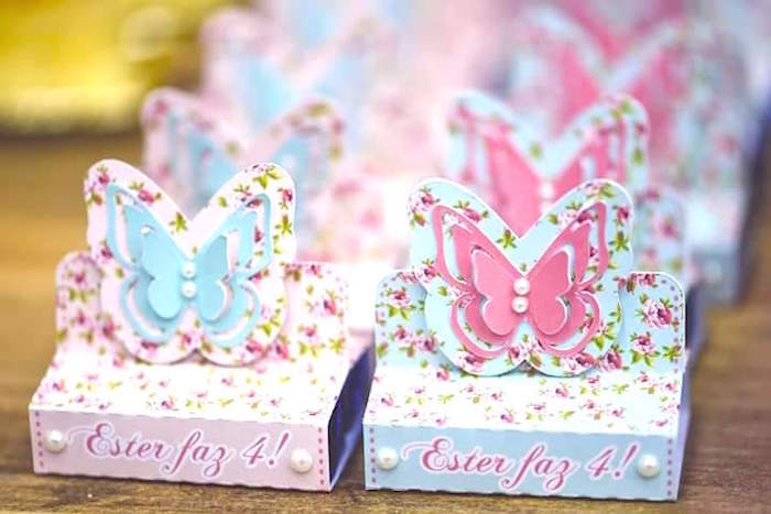 Butterfly favors from a Butterfly Garden Birthday Party on Kara's Party Ideas | KarasPartyIdeas.com (11)