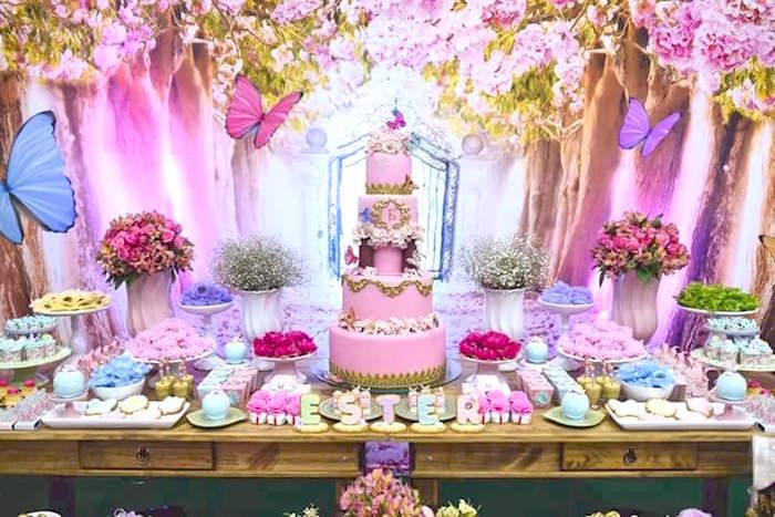 Karas Party Ideas Pink Butterfly Garden Birthday Party Karas