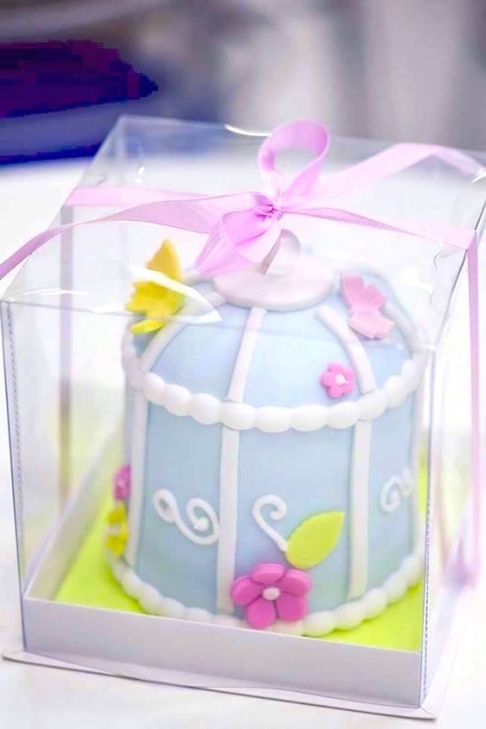 Mini cage cake from a Butterfly Garden Birthday Party on Kara's Party Ideas | KarasPartyIdeas.com (24)