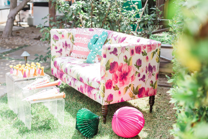 Lounge area from a Cactus + Flamingo Themed Summer Party on Kara's Party Ideas | KarasPartyIdeas.com (32)
