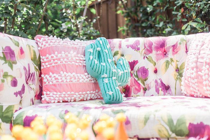 Pillows from a Cactus + Flamingo Themed Summer Party on Kara's Party Ideas | KarasPartyIdeas.com (29)