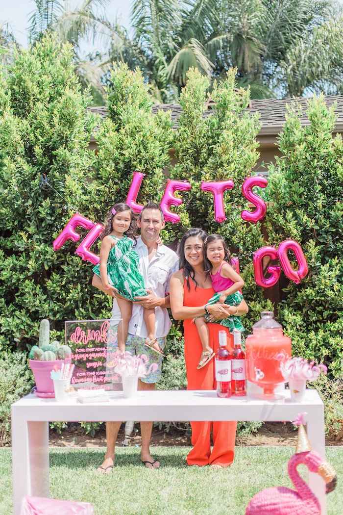 Party table from a Cactus + Flamingo Themed Summer Party on Kara's Party Ideas | KarasPartyIdeas.com (27)