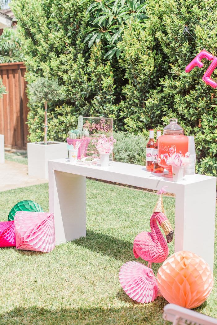 Party table from a Cactus + Flamingo Themed Summer Party on Kara's Party Ideas | KarasPartyIdeas.com (14)