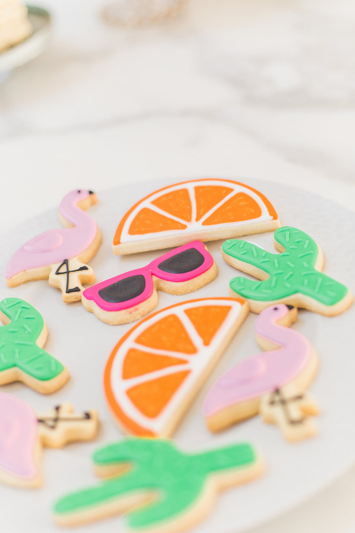 Cookies from a Cactus + Flamingo Themed Summer Party on Kara's Party Ideas | KarasPartyIdeas.com (40)