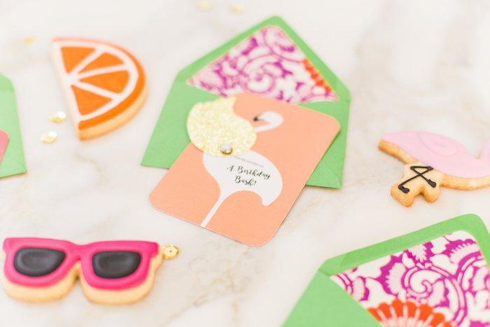 Flamingo party invitation from a Cactus + Flamingo Themed Summer Party on Kara's Party Ideas | KarasPartyIdeas.com (39)
