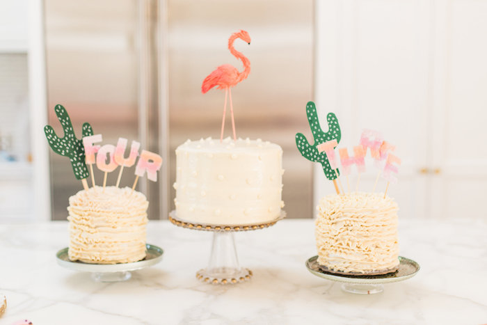 Cakes from a Cactus + Flamingo Themed Summer Party on Kara's Party Ideas | KarasPartyIdeas.com (37)