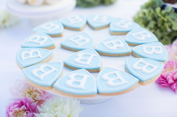 Paw Patrol cookies from a Chic Paw Patrol Pool Birthday Party on Kara's Party Ideas | KarasPartyIdeas.com (19)