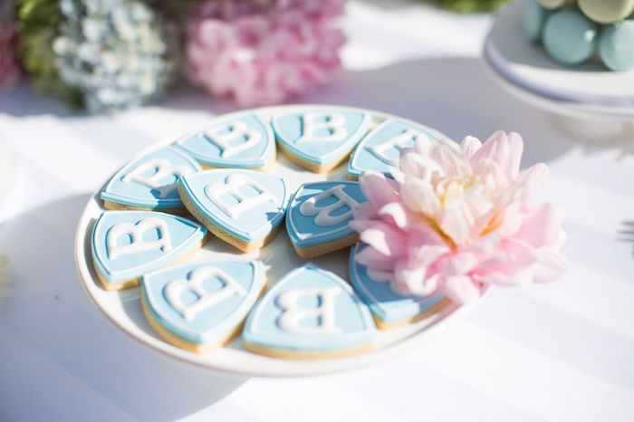 Paw Patrol cookies from a Chic Paw Patrol Pool Birthday Party on Kara's Party Ideas | KarasPartyIdeas.com (18)