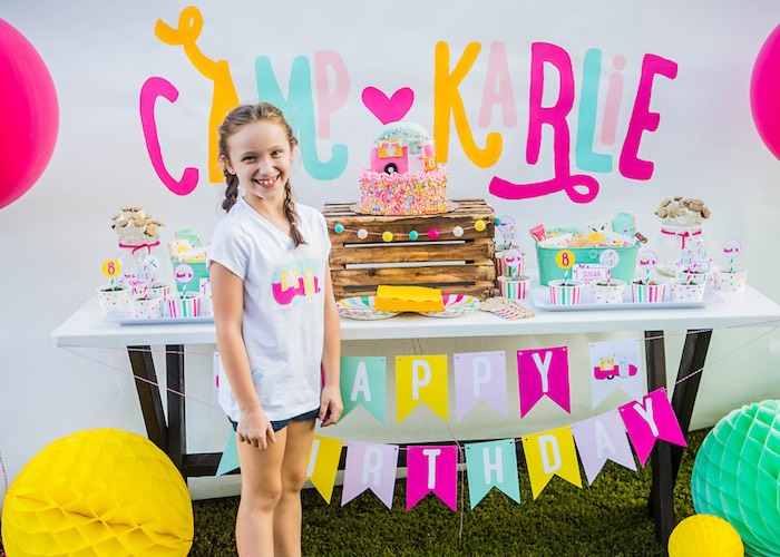 Colorful Camping Glamping Birthday Party on Kara's Party Ideas | KarasPartyIdeas.com (21)