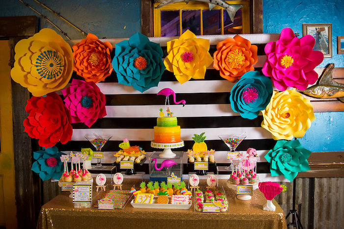 Colorful Flamingle Fiesta via Kara's Party Ideas | KarasPartyIdeas.com (32)