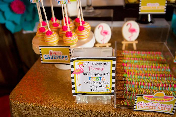 Party signage from a Colorful Flamingle Fiesta via Kara's Party Ideas | KarasPartyIdeas.com (29)
