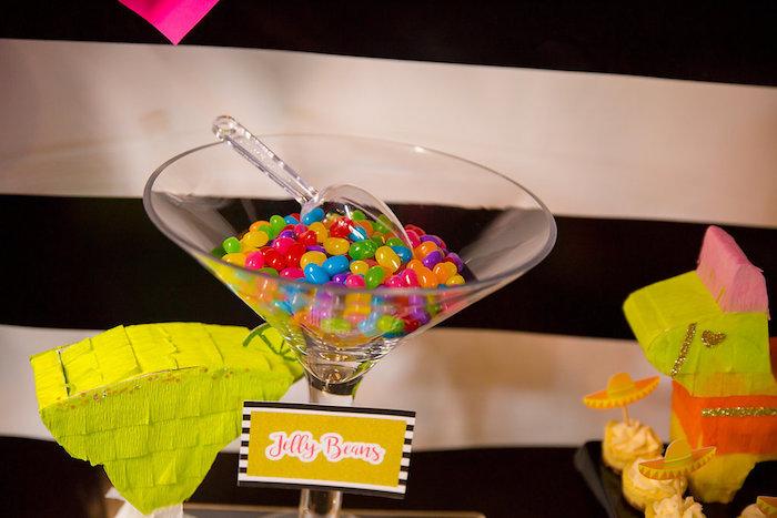 Jelly beans from a Colorful Flamingle Fiesta via Kara's Party Ideas | KarasPartyIdeas.com (23)