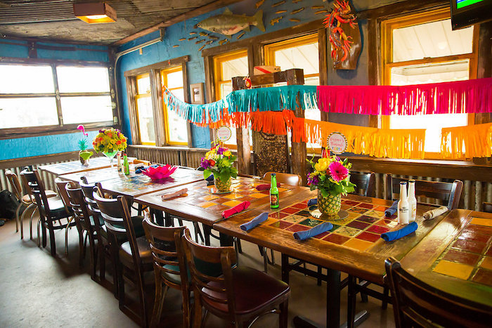 Dining tablscape from a Colorful Flamingle Fiesta via Kara's Party Ideas | KarasPartyIdeas.com (41)