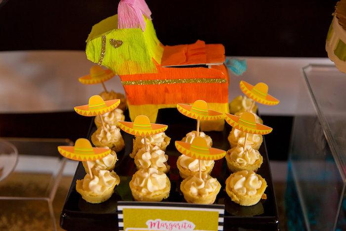 Cheesecake bites from a Colorful Flamingle Fiesta via Kara's Party Ideas | KarasPartyIdeas.com (21)
