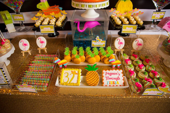 Sweets from a Colorful Flamingle Fiesta via Kara's Party Ideas | KarasPartyIdeas.com (20)