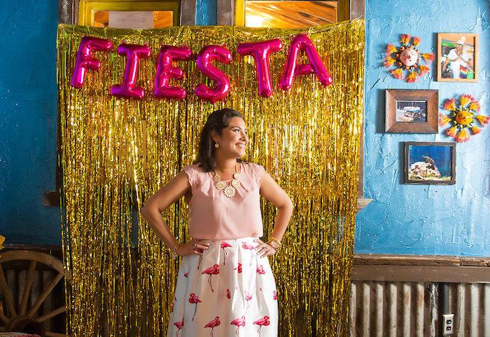 Photo booth from a Colorful Flamingle Fiesta via Kara's Party Ideas | KarasPartyIdeas.com (5)