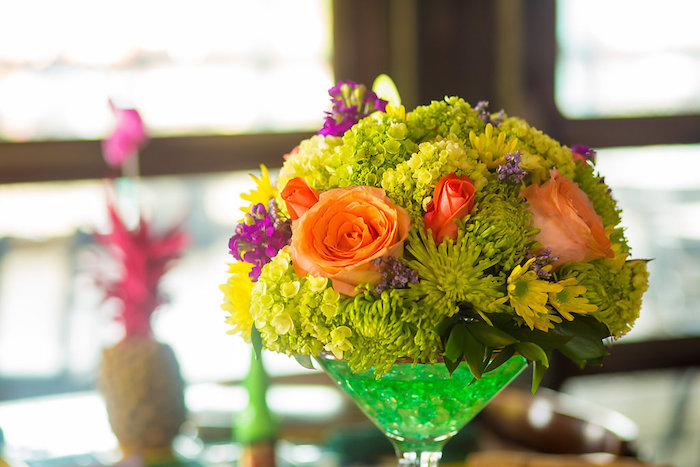 Fresh blooms from a Colorful Flamingle Fiesta via Kara's Party Ideas | KarasPartyIdeas.com (34)