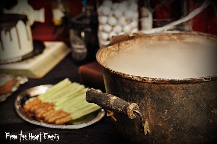 Boiling cauldron from a Creepy Apothecary Vintage Halloween Party on Kara's Party Ideas | KarasPartyIdeas.com (18)