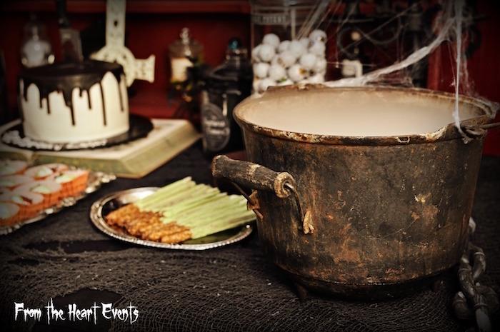 Boiling cauldron from a Creepy Apothecary Vintage Halloween Party on Kara's Party Ideas | KarasPartyIdeas.com (17)