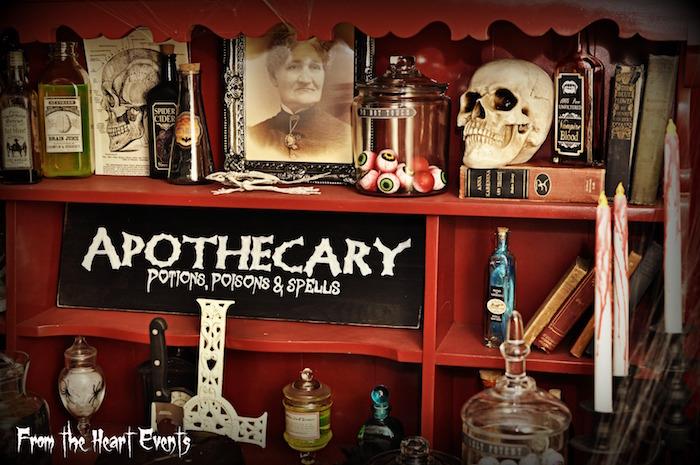 Decor from a Creepy Apothecary Vintage Halloween Party on Kara's Party Ideas | KarasPartyIdeas.com (15)