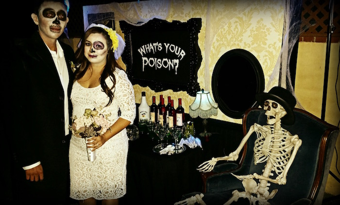 Corpse Bride and Groom from a Creepy Apothecary Vintage Halloween Party on Kara's Party Ideas | KarasPartyIdeas.com (8)
