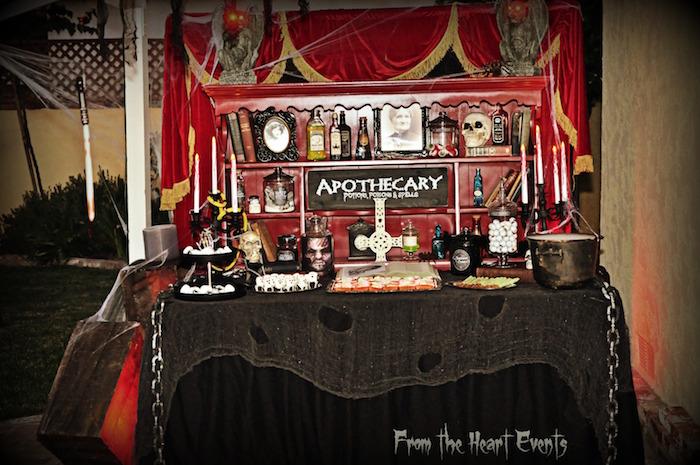 Creepy Apothecary Vintage Halloween Party on Kara's Party Ideas | KarasPartyIdeas.com (28)