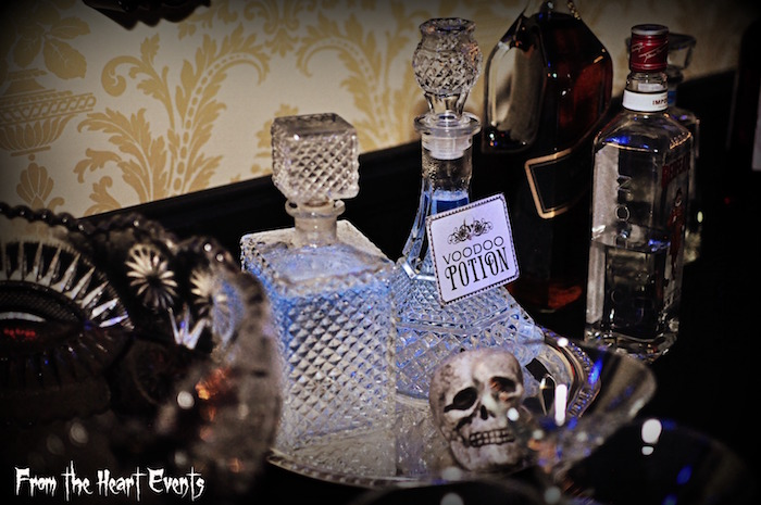 Voodoo potions from a Creepy Apothecary Vintage Halloween Party on Kara's Party Ideas | KarasPartyIdeas.com (24)