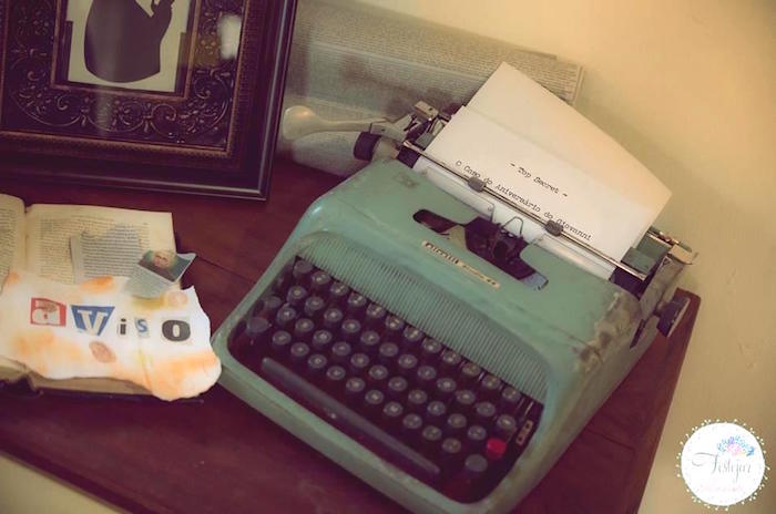 Vintage typewrite from a Detective + Mystery Birthday Party on Kara's Party Ideas | KarasPartyIdeas.com (26)