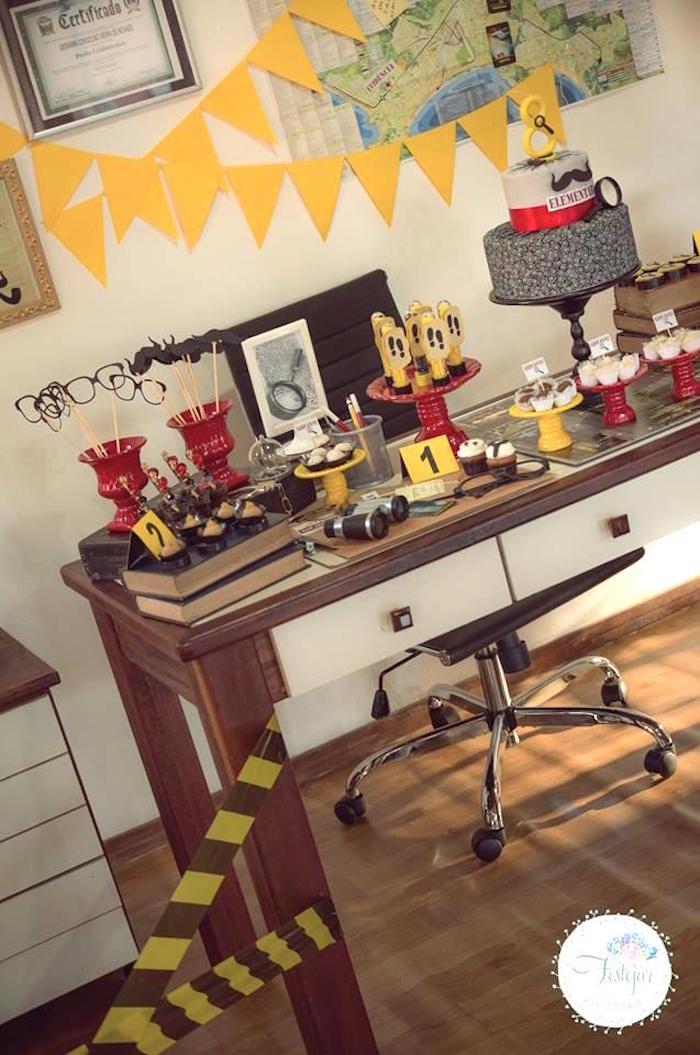 Detective + Mystery Birthday Party on Kara's Party Ideas | KarasPartyIdeas.com (12)