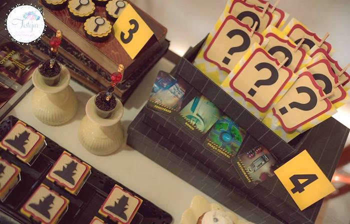 Party details from a Detective + Mystery Birthday Party on Kara's Party Ideas | KarasPartyIdeas.com (7)