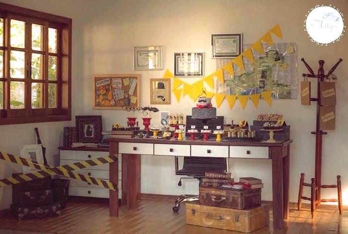 Detective + Mystery Birthday Party on Kara's Party Ideas | KarasPartyIdeas.com (5)