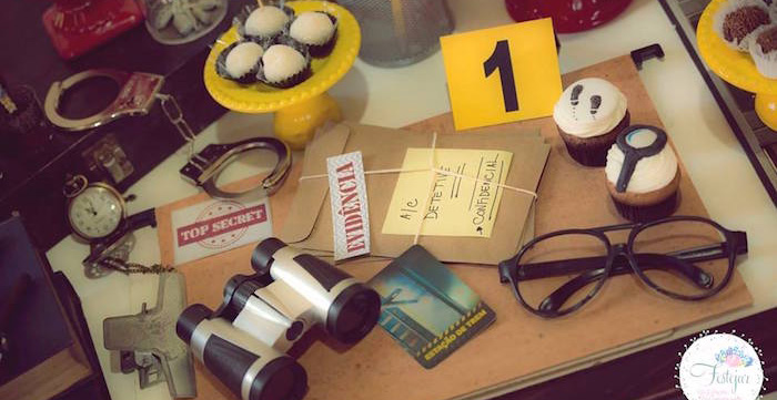 Detective + Mystery Birthday Party on Kara's Party Ideas   KarasPartyIdeas.com (2)