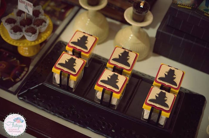 Sly Silhouette favor boxes from a Detective + Mystery Birthday Party on Kara's Party Ideas | KarasPartyIdeas.com (27)