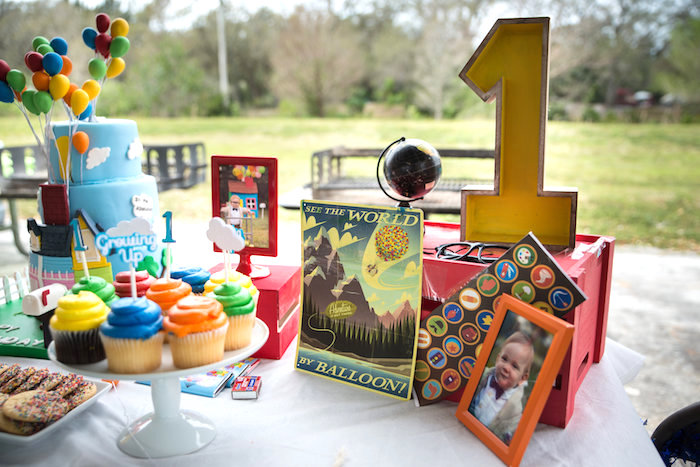 Party table from a Disney's Up Themed Birthday Party on Kara's Party Ideas | KarasPartyIdeas.com (15)