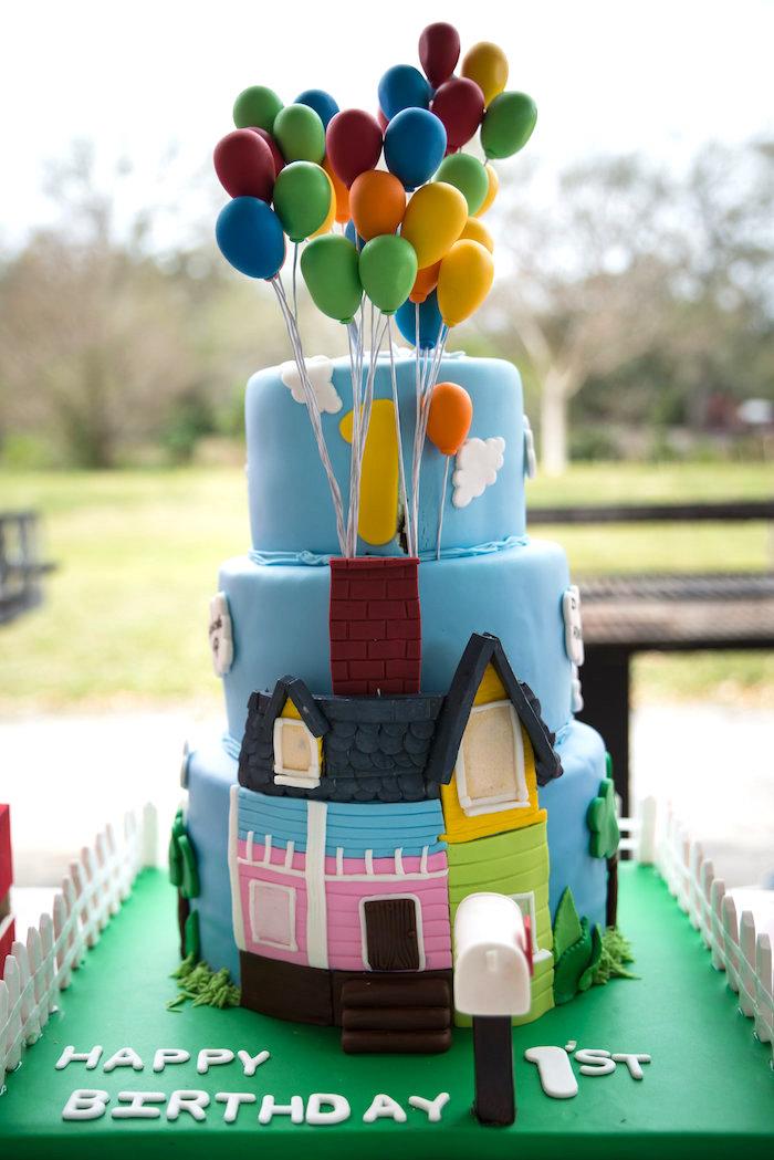 """Up"" Cake from a Disney's Up Themed Birthday Party on Kara's Party Ideas | KarasPartyIdeas.com (12)"