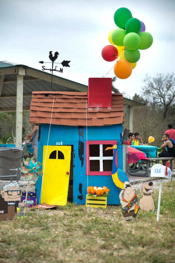 Up House from a Disney's Up Themed Birthday Party on Kara's Party Ideas | KarasPartyIdeas.com (7)
