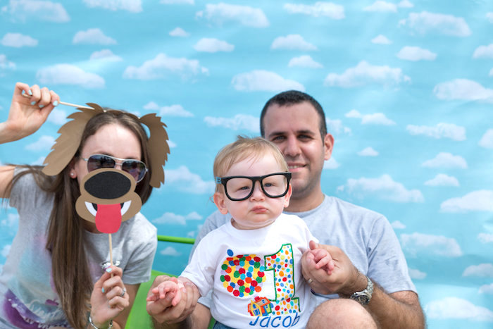 Cloud photo booth from a Disney's Up Themed Birthday Party on Kara's Party Ideas | KarasPartyIdeas.com (5)