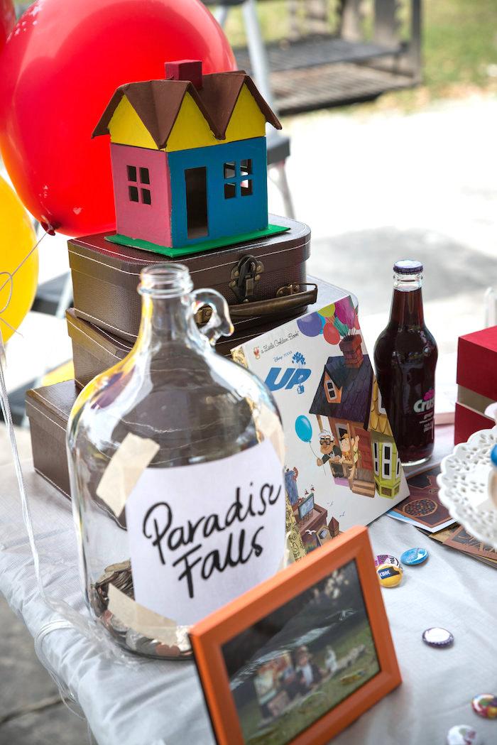 Up themed party decor from a Disney's Up Themed Birthday Party on Kara's Party Ideas | KarasPartyIdeas.com (20)