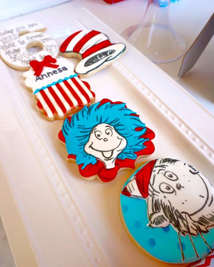 Cookies from a Dr. Seuss Birthday Party on Kara's Party Ideas | KarasPartyIdeas.com (13)