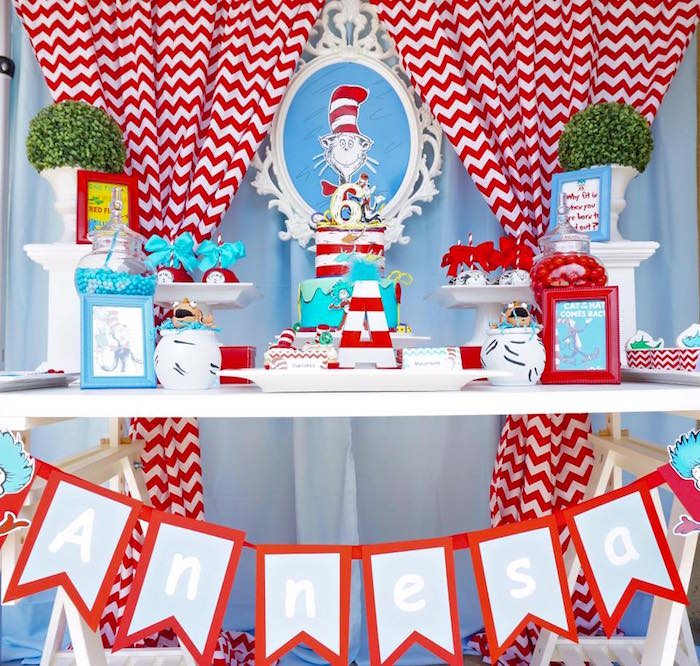 Karas Party Ideas Dr Seuss Birthday Party Karas Party Ideas