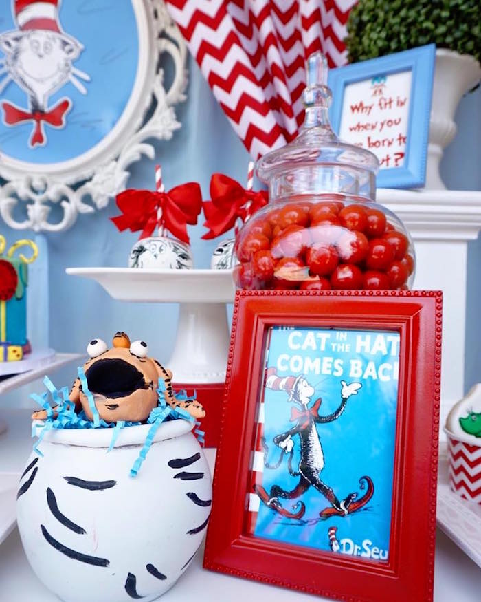 Party details from a Dr. Seuss Birthday Party on Kara's Party Ideas | KarasPartyIdeas.com (10)