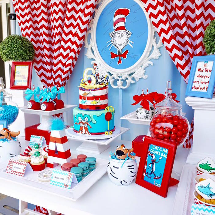 Kara's Party Ideas Dr. Seuss Birthday Party | Kara's Party ...