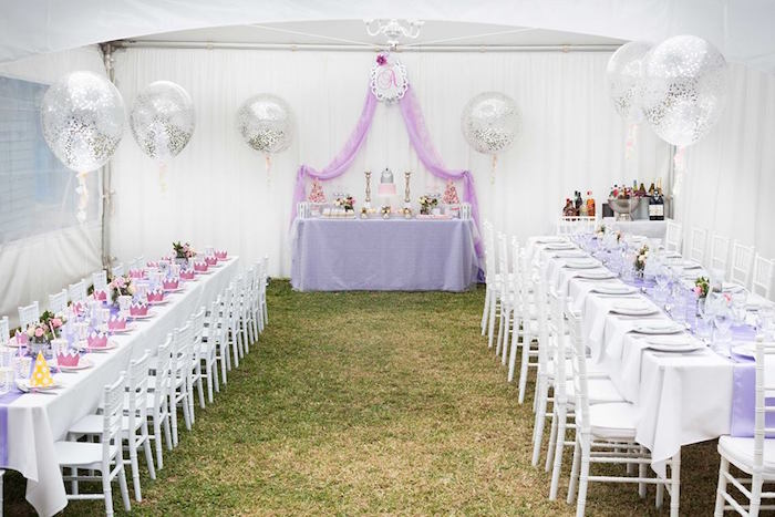 Kara S Party Ideas Elegant Purple Princess Birthday Party