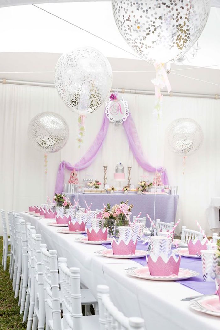 Kara's Party Ideas Elegant Purple Princess Birthday Party ... |Princess Birthday