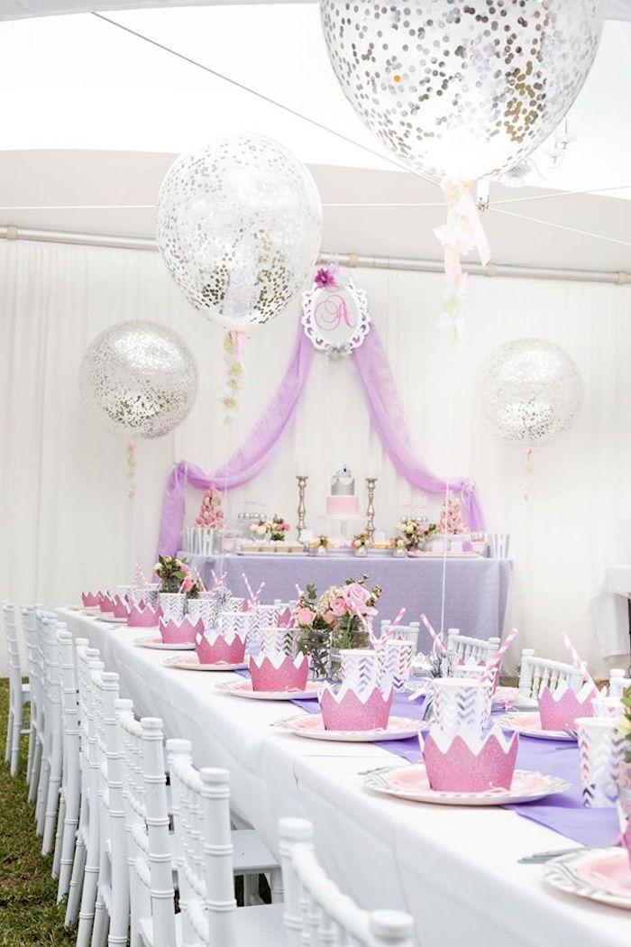 Kara S Party Ideas Elegant Purple Princess Birthday Party