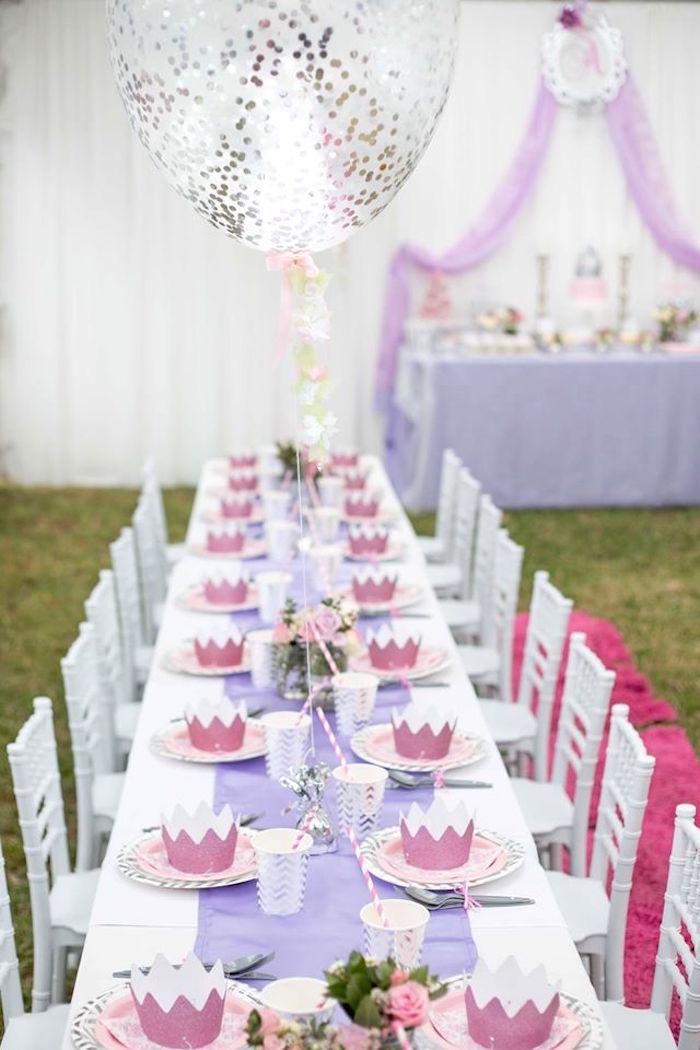 Kara 39 s party ideas elegant purple princess birthday party for Princess birthday party crafts